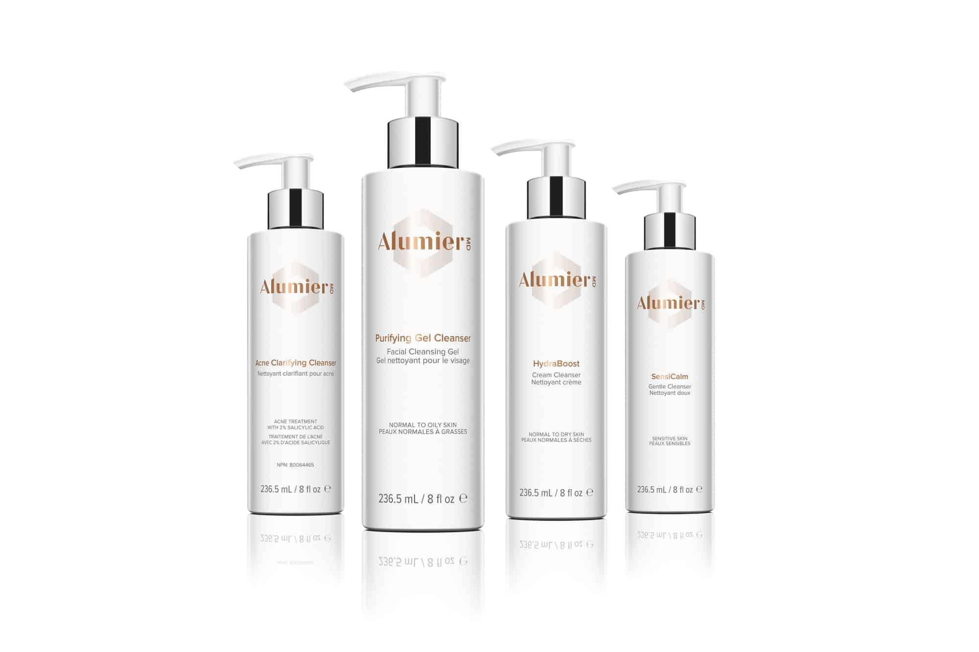 AlumierMD cleansers and scrubs